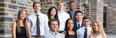 A. James Clark Scholars at Duke, fall 2018